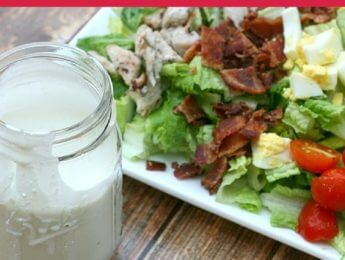 Cobb Salad with Homemade 5-Ingredient Blue Cheese Dressing - a real food makeover for this salad classic - DontMesswithMama.com