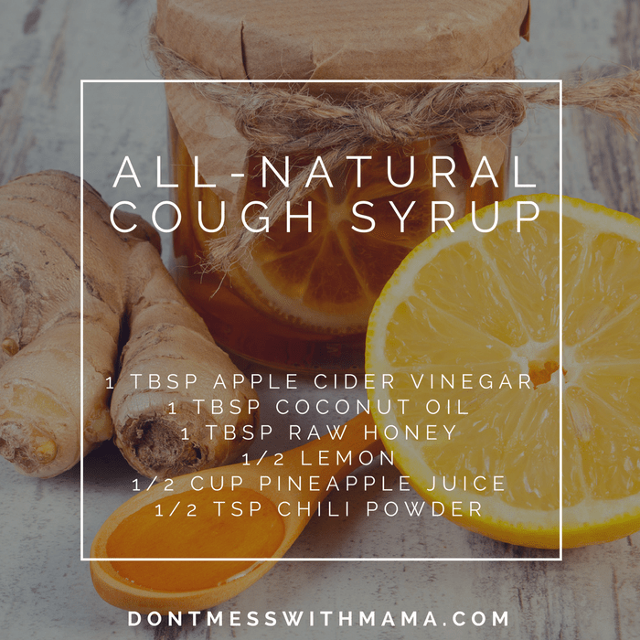 All-Natural Cough Syrup Recipe - best foods for cold - DontMesswithMama.com
