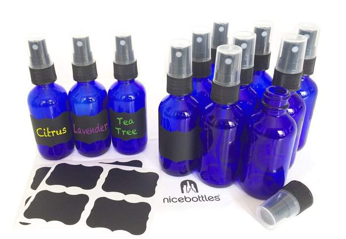 Glass Bottles - 2 oz + 10 Fun Essential Oil Accessories for DIY Projects - DontMesswithMama.com