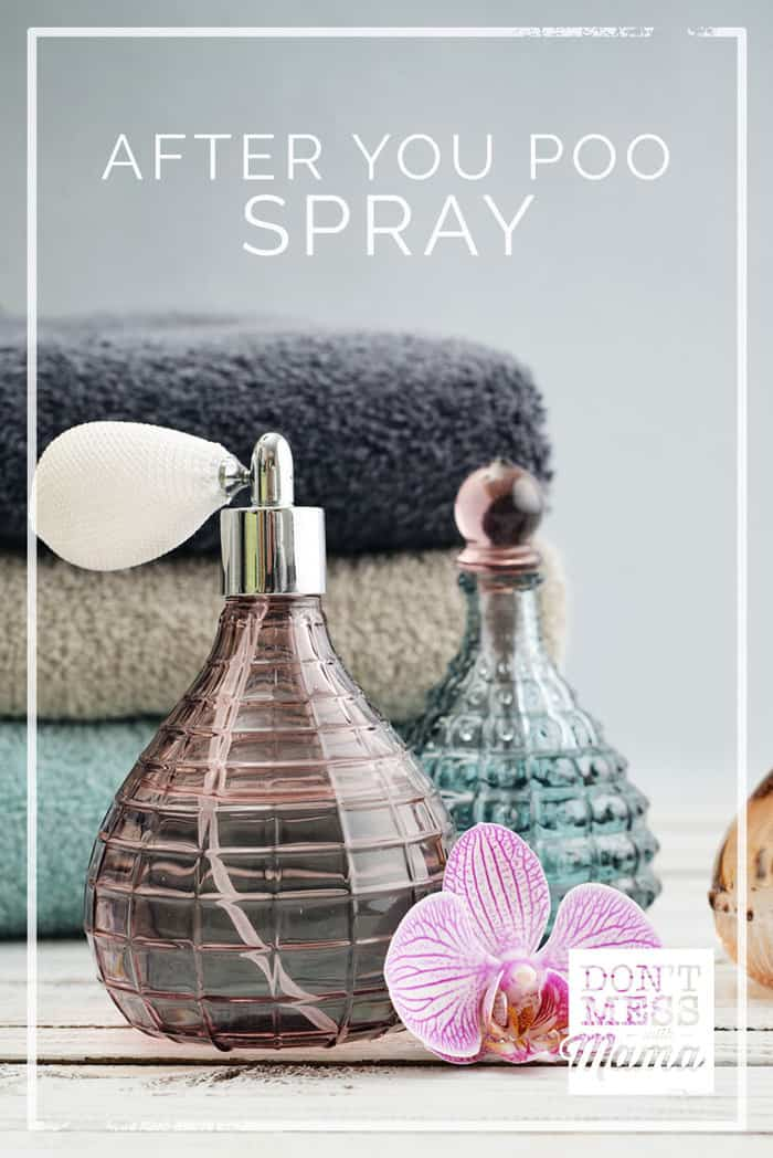 Keep your bathroom smelling fresh and clean all the time with this DIY Poo Pourri tutorial for After You Poo Spray. They're cheap and easy to make. #poospray #toiletspray #airfreshner