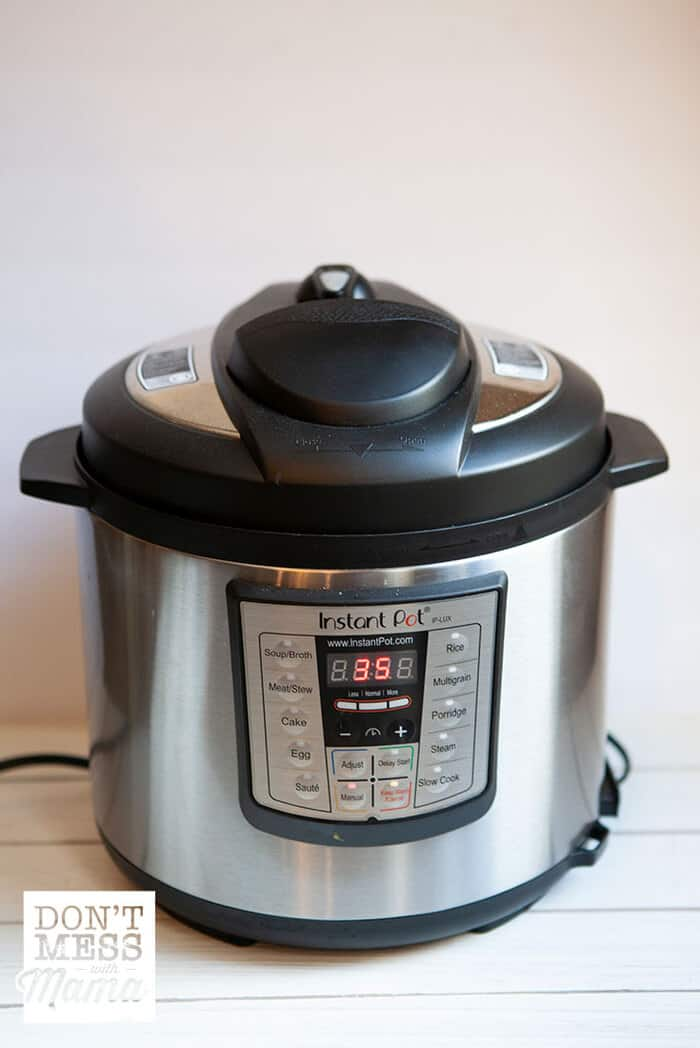Instant Pot on a white table