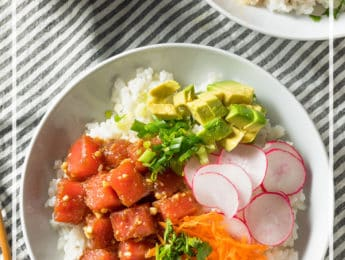 Ahi Tuna Poke Bowl - learn how to make this healthy dish at home - DontMesswithMama.com