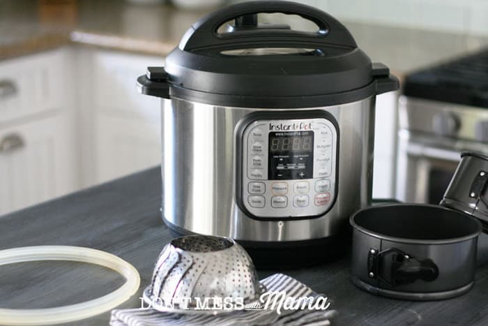 Instant Pot and accessories on a table