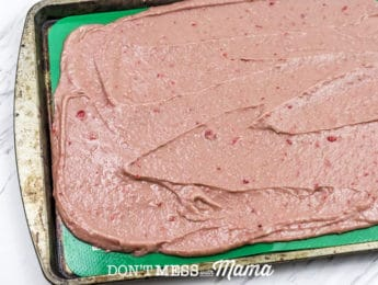 strawberry bark mix on baking tray
