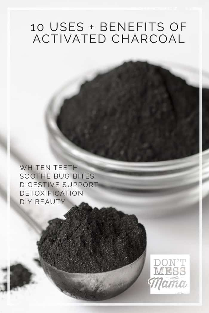10 Uses and Benefits of Activated Charcoal - use for DIY beauty, teeth whitener, other natural remedies.