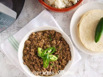 a bowl of taco meat