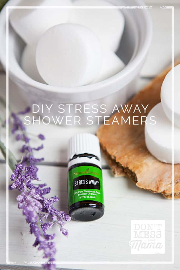 DIY Aromatherapy Shower Steamers (Stress Away Shower Melts) - great alternative to baths - DontMesswithMama.com