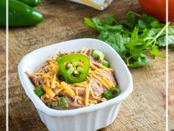 Instant Pot Refried Beans - get ready for taco night with this Mexican side dish classic - DontMesswithMama.com