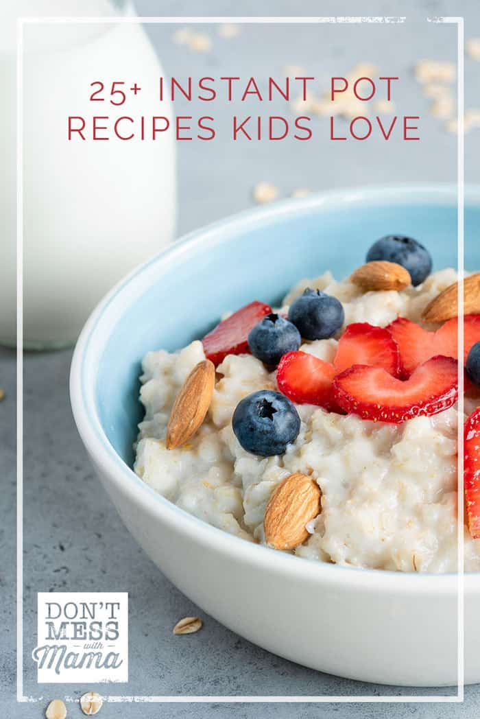 Looking for easy meals that the whole family will enjoy? Check out these 25 Instant Pot Recipes Kids Love. All Instant Pot recipes are gluten-free and so easy to make.