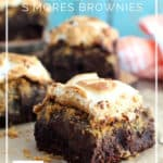 Gluten-Free S'Mores Brownies with title graphic