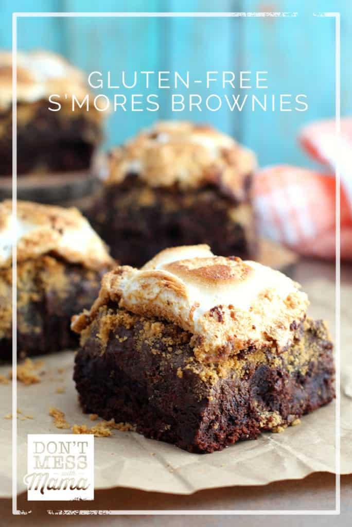 Gluten-Free S'Mores Brownies - real food recipe without refined sugar - DontMesswithMama.com