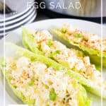 Instant Pot Egg Salad - gluten free and low carb options - DontMesswithMama.com