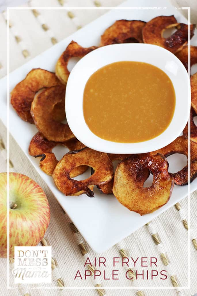 Air Fryer Apple Chips - DontMesswithMama.com