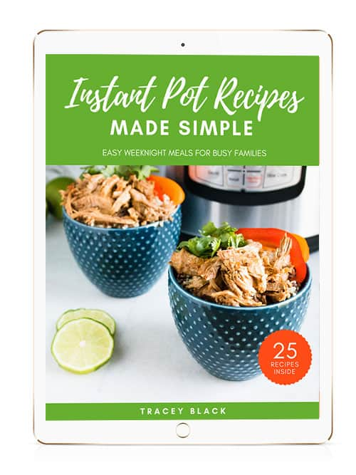 Photo of Instant Pot Recipes Made Simple Book with link to learn more about the book