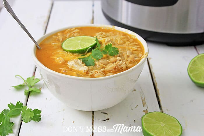 Instant Pot White Chicken Chili - DontMesswithMama.com