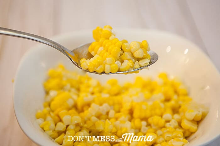 A spoonful of corn