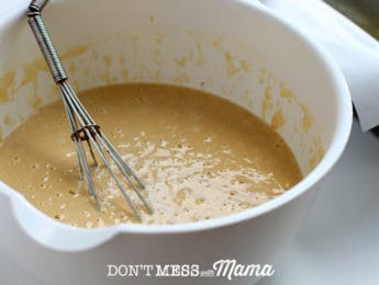 whisking mix for Paleo Sandwich Bread