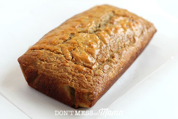 shot of Paleo Sandwich Bread loaf on a table