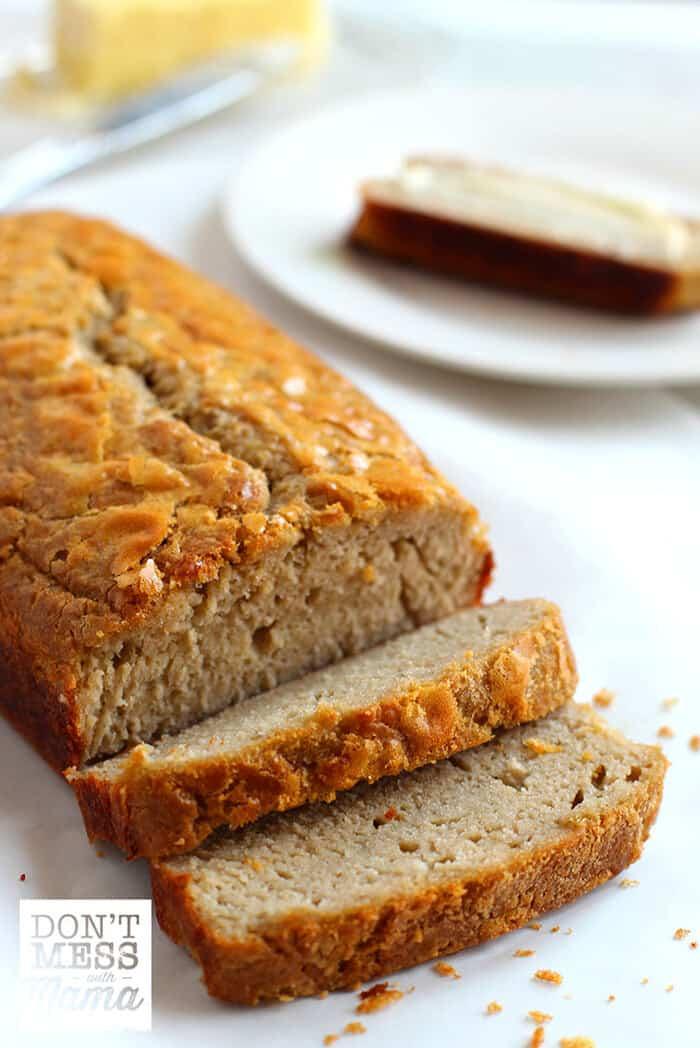sliced bread on a table