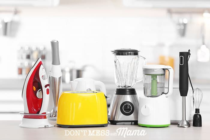 Decluttering your home - Kitchen appliances on a counter