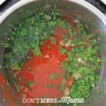 herbs and tomato in instant pot