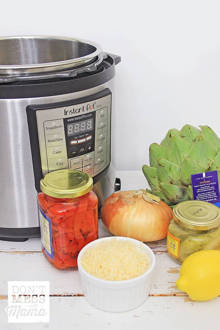 ingredients to make risotto in an instant pot