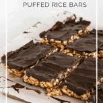 Chocolate peanut butter puffed rice bars