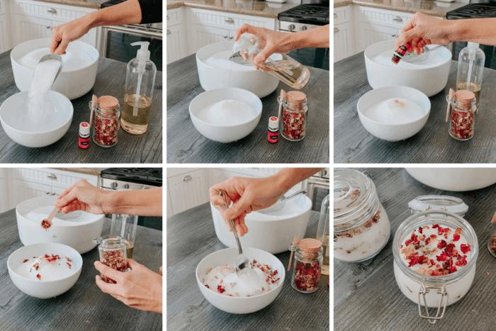 Jasmine and Rose Bath Salts process images