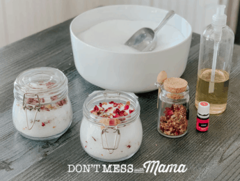 Homemade Jasmine and Rose Bath Salts