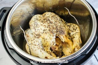 cooked whole chicken in instant pot