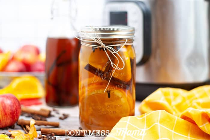 jar of instant pot fall potpourri