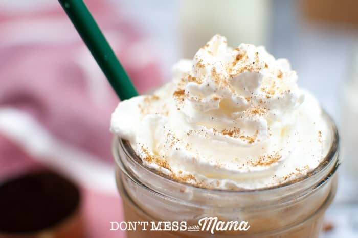 pumpkin spice frappe whipped cream topping
